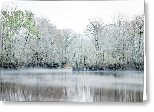 Mist On The River Greeting Card