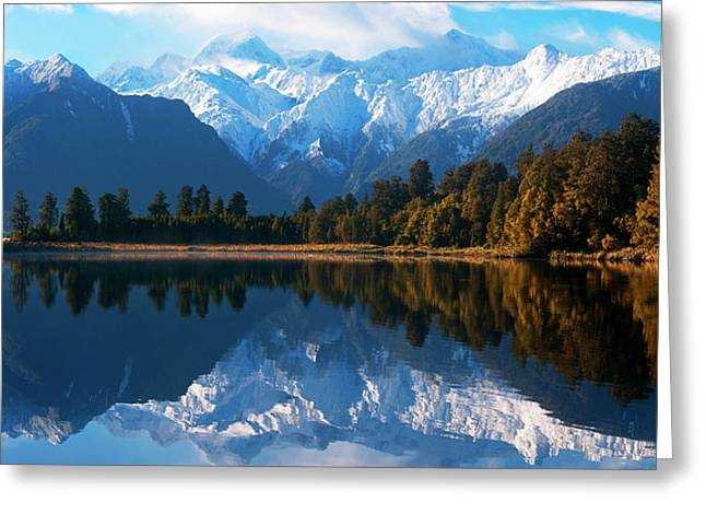 Mist Over Lake Matheson Greeting Card