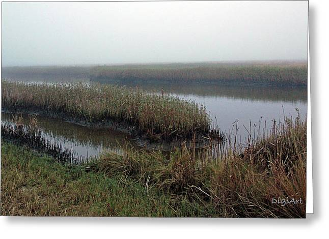 Mist Over Marsh Greeting Card