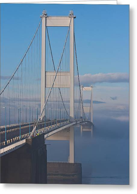 Mist Over The Severn Greeting Card by Brian Roscorla