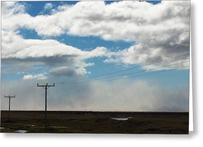 Mist Over Vestmannaeyjar Greeting Card by Sidsel Genee