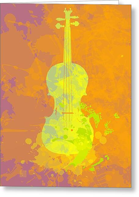 Mist Violin Greeting Card