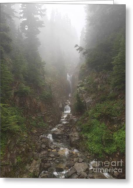 Misted Waterfall Greeting Card