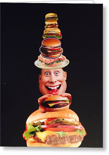 Mister Cheese Burger Greeting Card