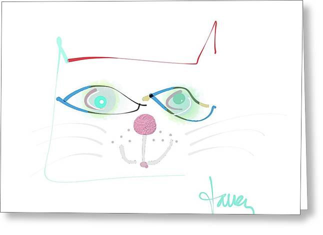Greeting Card featuring the mixed media Mister Mischief by Larry Talley