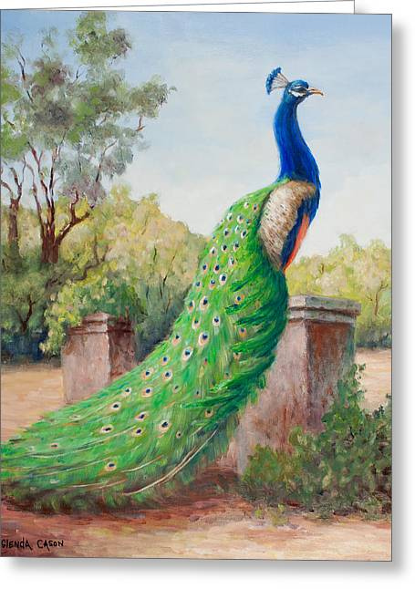 Mister Peacock Greeting Card