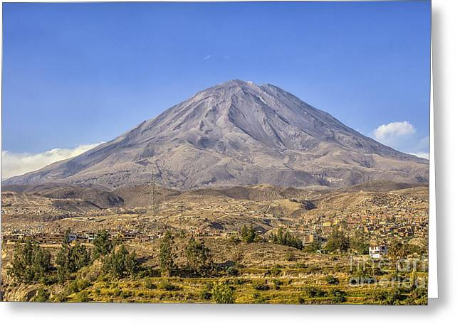 Misti Volcano At Arequipa, Peru Greeting Card by Patricia Hofmeester
