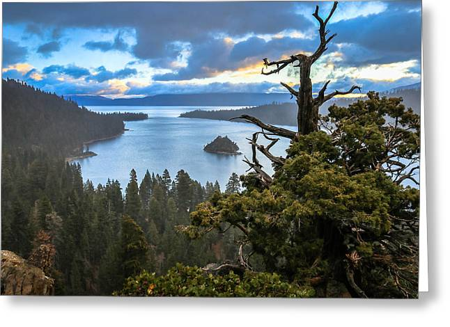 Mistic Tahoe Sunrise Greeting Card