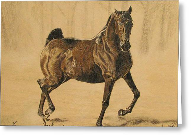 Mistical Horse Greeting Card by Melita Safran