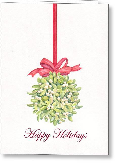Mistletoe Greeting Card by Deborah Ronglien