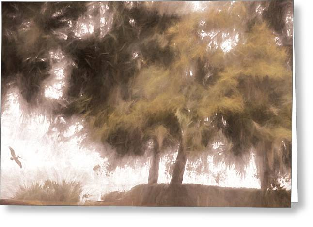 Mists Begin To Lift Greeting Card