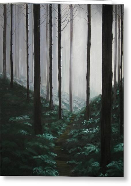 Mists Of Past Times Greeting Card by Maren Jeskanen