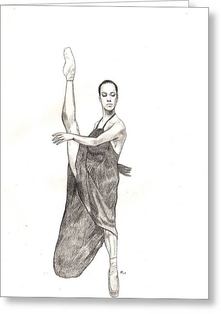 Misty Ballerina Dancer  Greeting Card