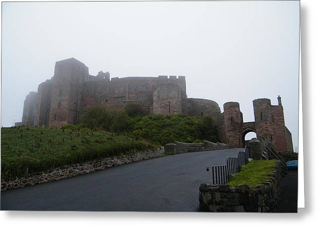 Misty Bamburgh Castle Greeting Card