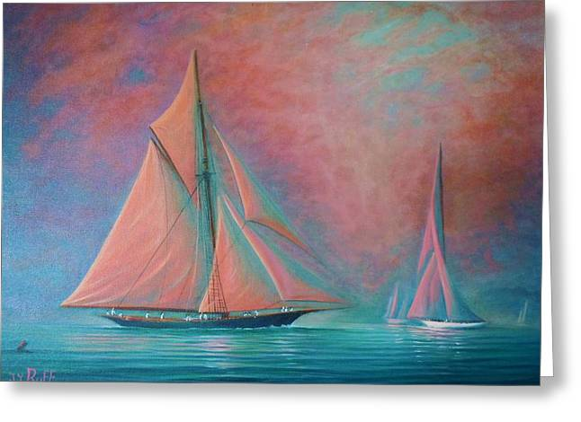 Misty Bay Rendevous Greeting Card