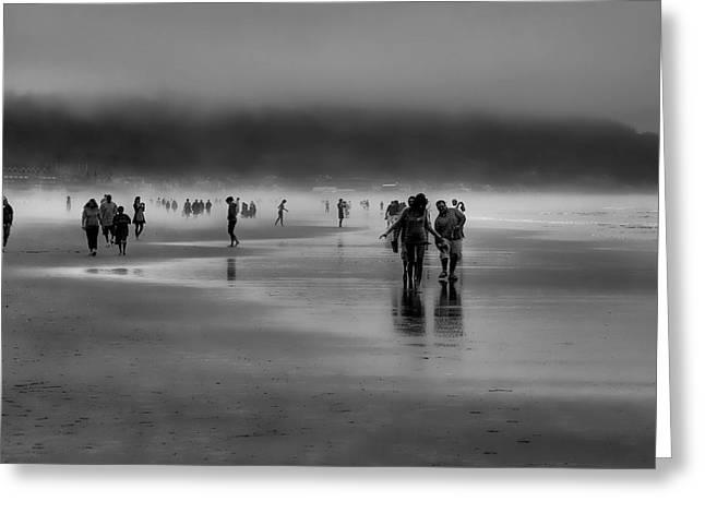 Misty Beach Greeting Card