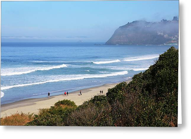 Misty Beach Morning Greeting Card