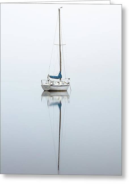 Greeting Card featuring the photograph Misty Boat by Grant Glendinning