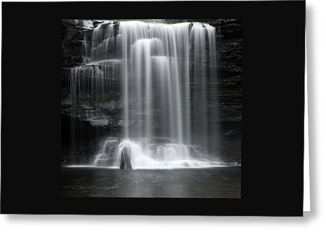 Misty Canyon Waterfall Greeting Card by John Stephens