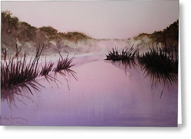 Misty Dawn Greeting Card