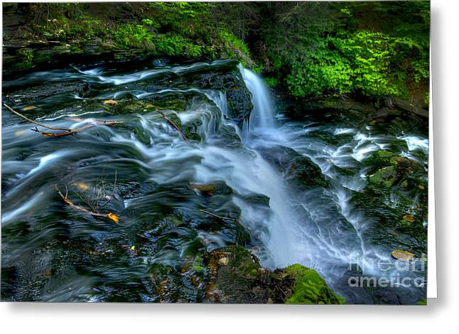 Misty Falls - 2976 Greeting Card by Paul W Faust -  Impressions of Light