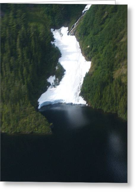 Misty Fjord Ice Falls Greeting Card