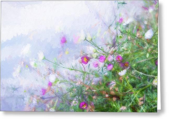 Misty Floral Spray Greeting Card