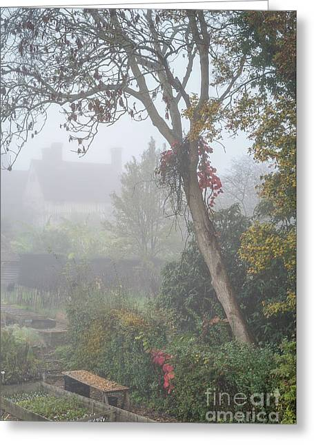 Misty Garden, Great Dixter 2 Greeting Card