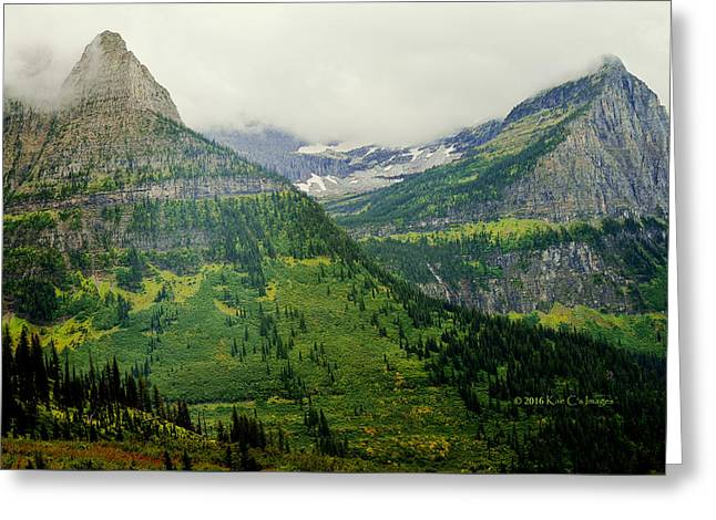 Greeting Card featuring the photograph Misty Glacier National Park View by Kae Cheatham