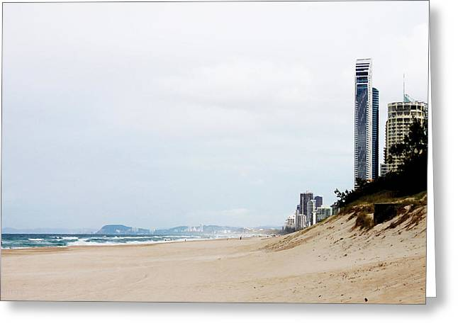 Misty Gold Coast Beach Greeting Card by Susan Vineyard