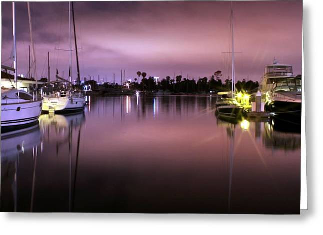 Misty Harbor Greeting Card