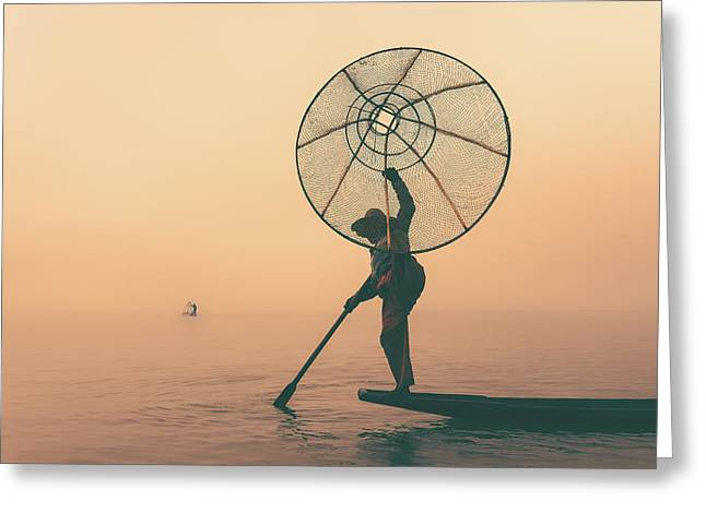 Misty Inle Greeting Card