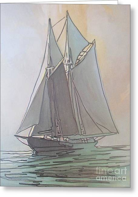 Misty Marine Art Greeting Card by John Malone