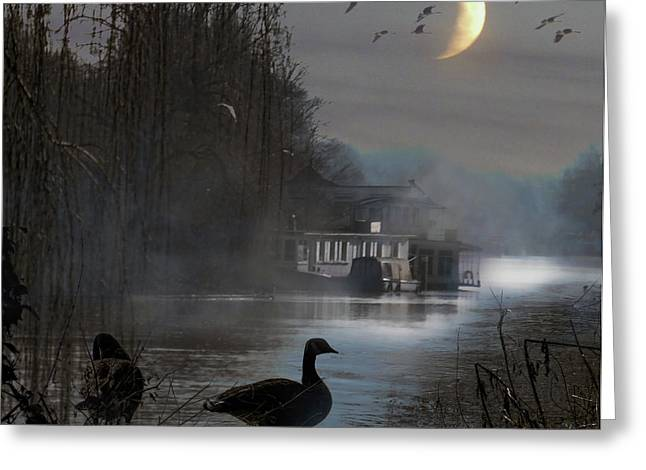 Misty Moonlight Greeting Card