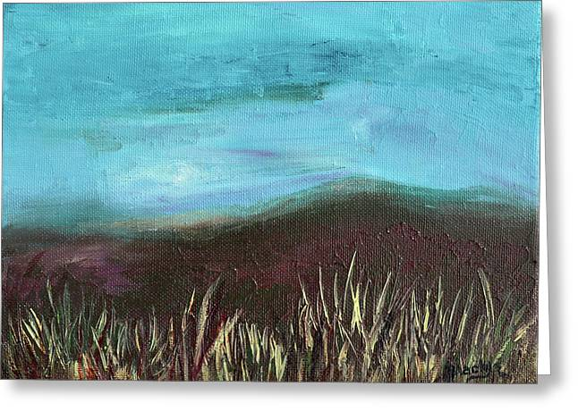 Misty Moors Greeting Card by Donna Blackhall