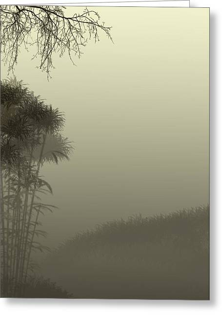 Misty Morn Greeting Card by Trilby Cole
