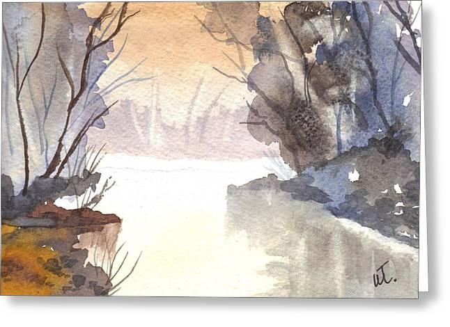 Misty Morn Greeting Card by Warren Thompson
