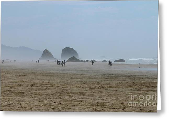 Misty Morning At Cannon Beach Greeting Card