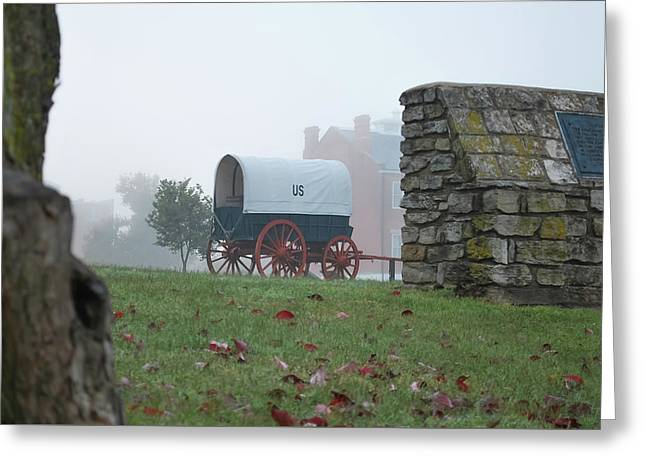 Greeting Card featuring the photograph Misty Morning At Fort Smith National Historic Site - Arkansas by Gregory Ballos