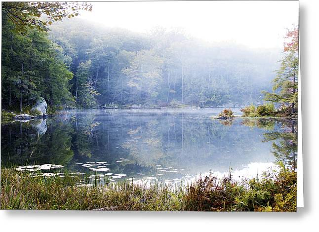 Misty Morning At John Burroughs #1 Greeting Card by Jeff Severson