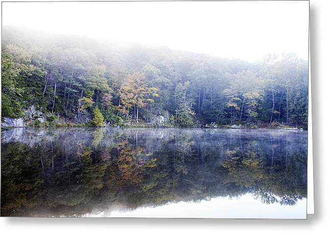 Misty Morning At John Burroughs #2 Greeting Card by Jeff Severson