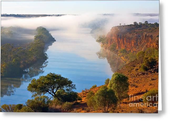 Misty Morning Greeting Card by Bill  Robinson