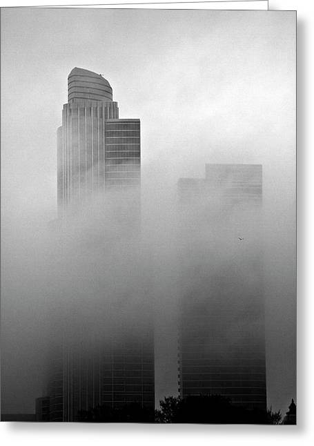 Misty Morning Flight Greeting Card