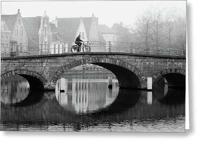 Misty Morning In Bruges  Greeting Card