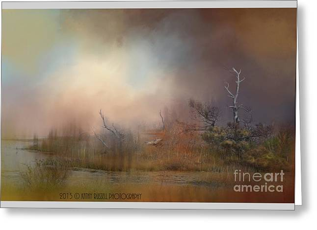 Misty Morning Greeting Card by Kathy Russell