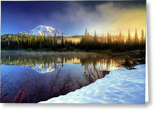 Misty Morning Lake Greeting Card