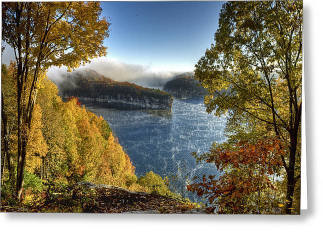Misty Morning Greeting Card by Mark Allen