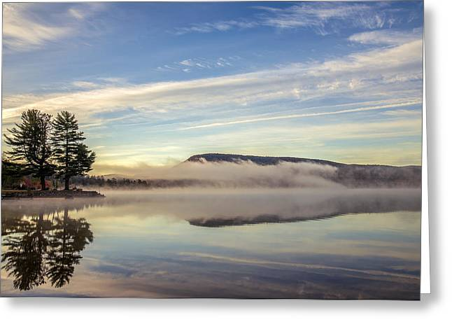 Misty Morning Greeting Card by Mark Papke