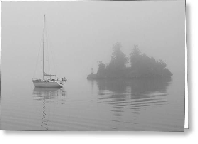 Misty Morning Greeting Card by Mark Alan Perry