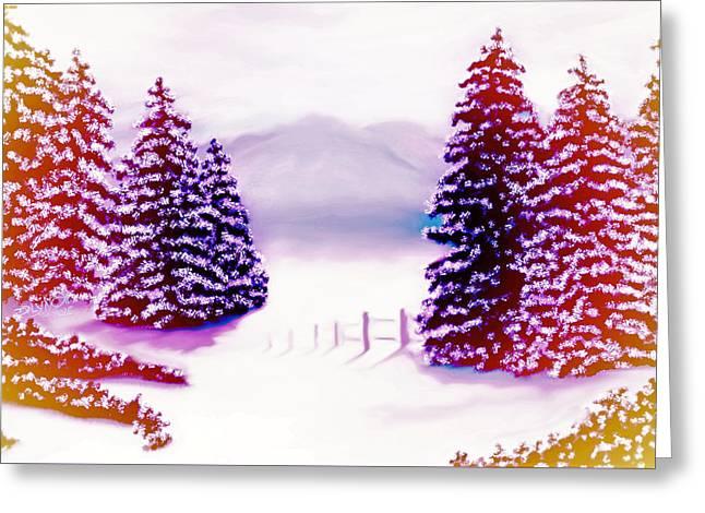 Misty Morning Melt Down Greeting Card by Debra Lynch